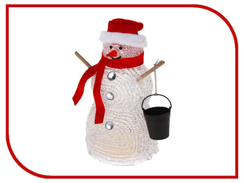 Новогодний сувенир Luazon Снеговик с ведром 1077241 тележки клининг с ведром