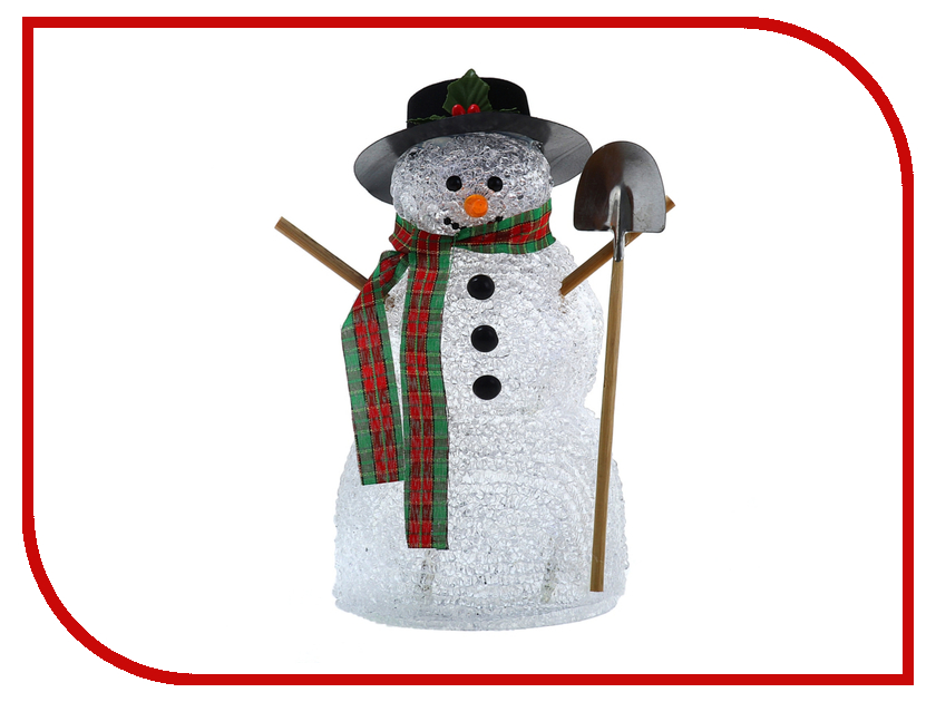 Новогодний сувенир Luazon Снеговик с лопатой White 676330 luazon lf 06 1131117