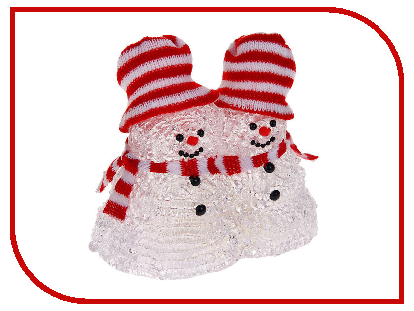 Новогодний сувенир Luazon Парочка снеговиков 1077239 гирлянда luazon дождь 2m 6m multicolor 671678