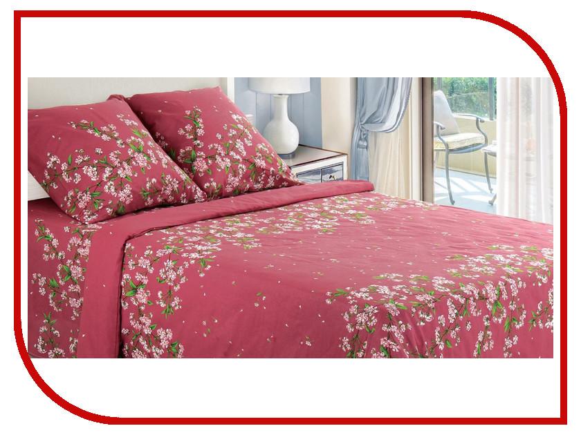 Постельное белье Этель Цветы вишни Комплект 2 спальный Бязь 1230464 йогурт campina нежный с соком вишни 1 2%