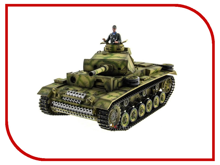 Игрушка Taigen Panzerkampfwagen III TG3848-1HC-IR радиоуправляемый танк taigen panzerkampfwagen iv ausf hc pro масштаб 1 16 2 4g