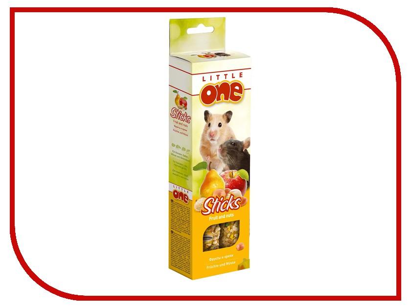 где купить  Little One Палочки с фруктами и орехами 60g для хомяков, крыс, мышей и песчанок 56828  по лучшей цене
