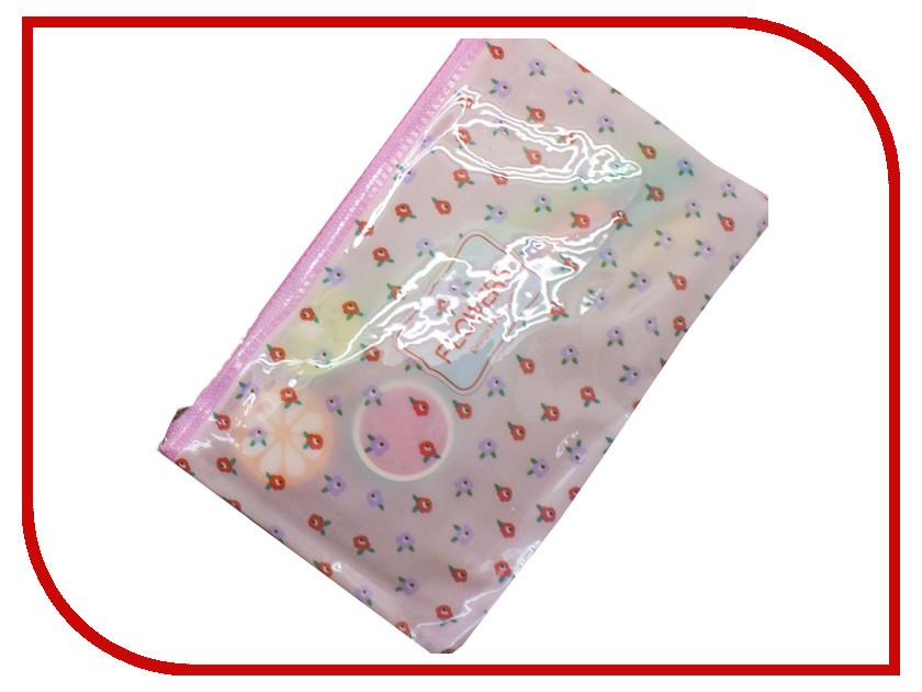 Канцелярский набор Пенал на молнии Megamind Flowers Pink М5818