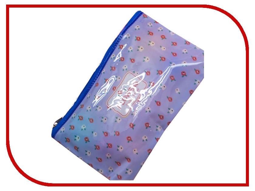 Канцелярский набор Пенал на молнии Megamind Flowers Blue М5818