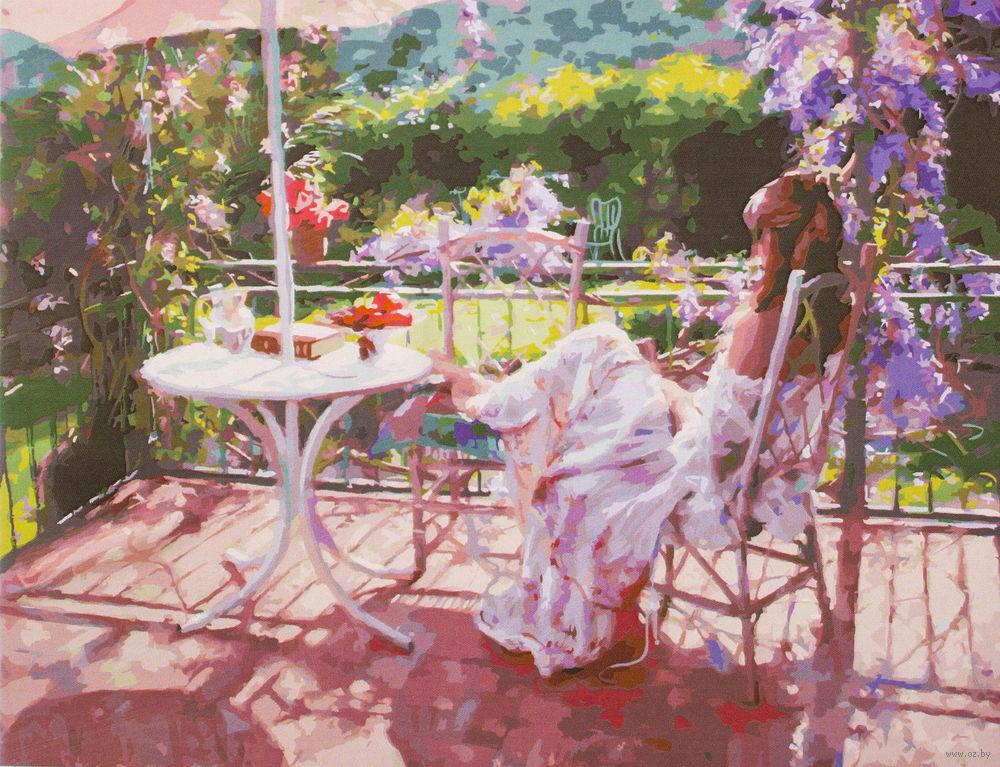 Картина по номерам Белоснежка Утро на террасе 935-AB картина по номерам 40 x 50 см ktmk 393605