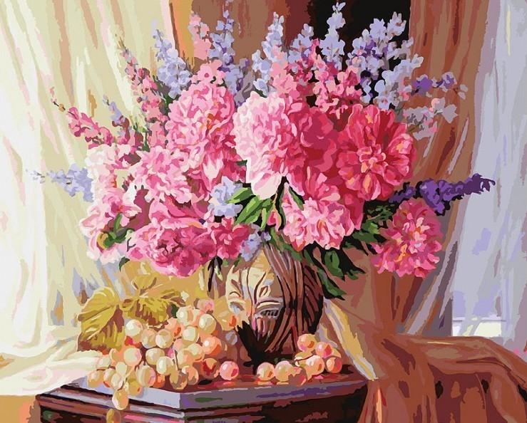 Картина по номерам Белоснежка Виноградно-пионовое 143-AB набор д творчества белоснежка раскраска по номерам 40 50см французский завтрак 626 ab