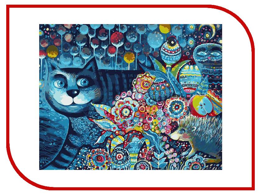 Белоснежка Индиго кот 083-AB наборы для рисования белоснежка живопись на холсте 40х50 см водные процедуры 185 ab