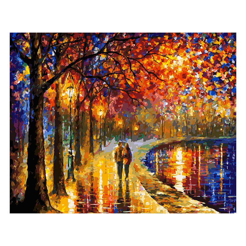 Картина по номерам Белоснежка Пара у озера 022-AB набор д творчества белоснежка раскраска по номерам 40 50см французский завтрак 626 ab