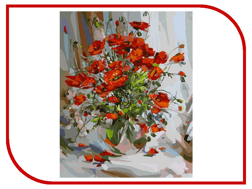 Белоснежка Букет маков 003-AB белоснежка живопись на холсте 40х50 см букет маков