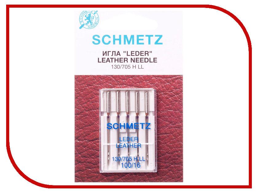 Набор игл для кожи Schmetz №100 130/705H-LL 5шт ll trader highscreen 100