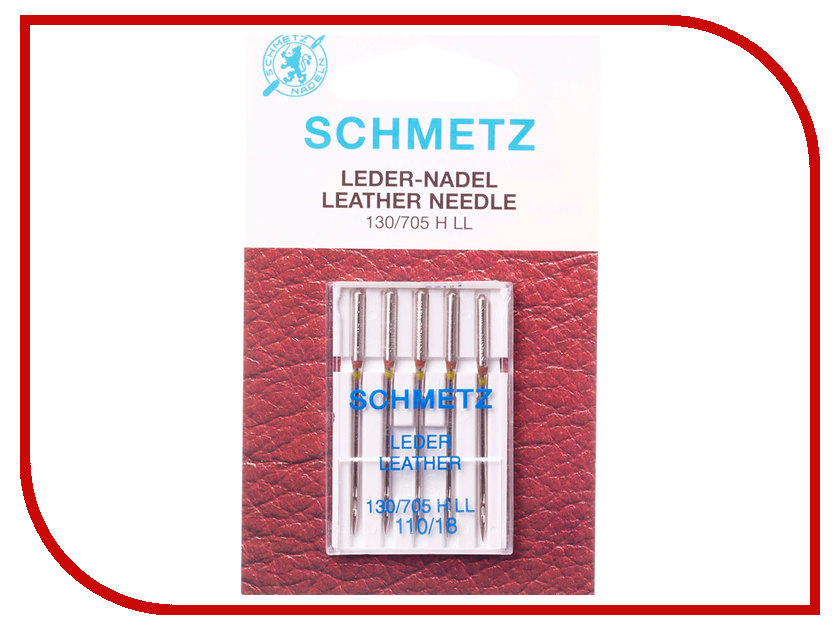 Набор игл для кожи Schmetz №110 130/705H-LL 5шт protective aluminum case for dsi ll black