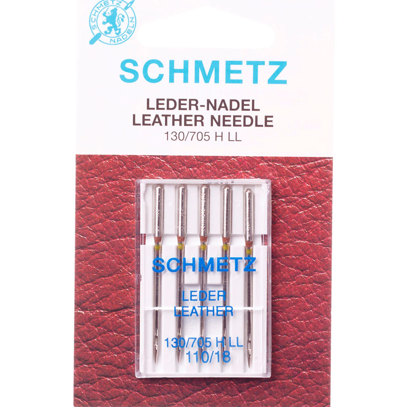 Набор игл для кожи Schmetz №110 130/705H-LL 5шт