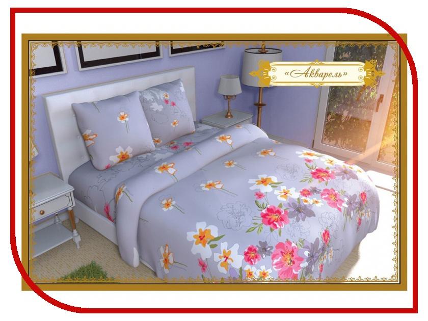 Постельное белье Этель Акварель Комплект 2 спальный Бязь 1117664 постельное белье гербарий бежевый gs бязь 2 спальный