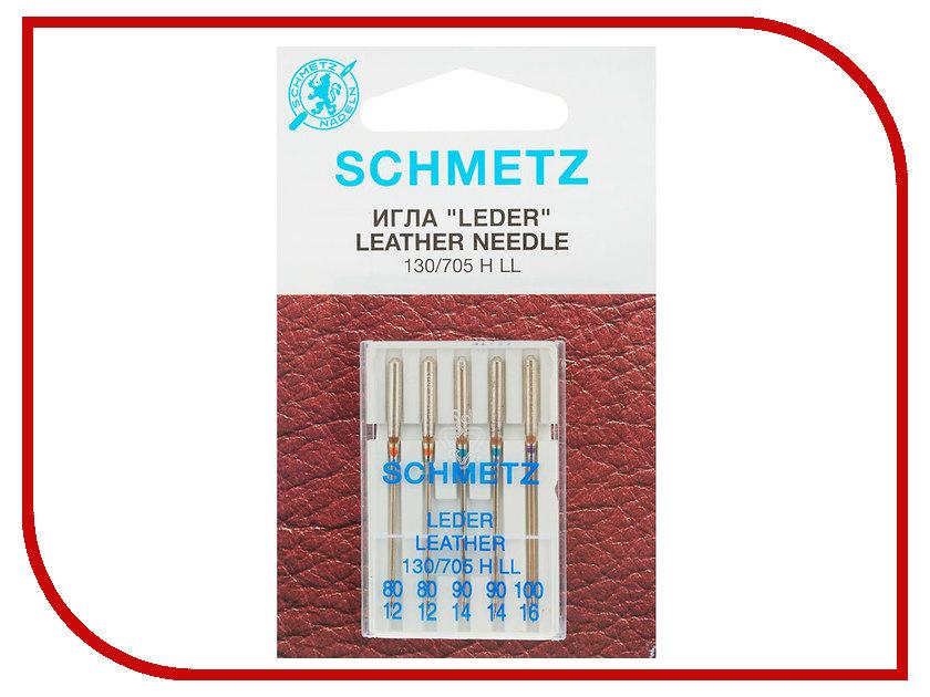 Набор игл для кожи Schmetz №80-100 130/705H-LL 5шт