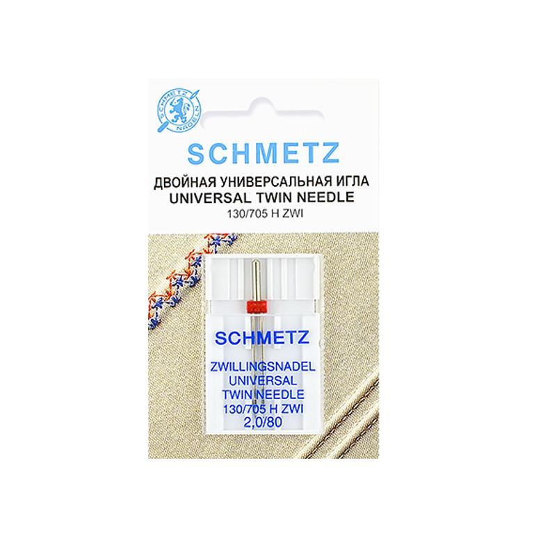 Двойная игла Schmetz №80/2 130/705H ZWI 1шт