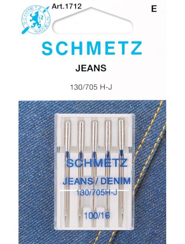 Набор игл для джинсы Schmetz №100 130/705H-J 5шт