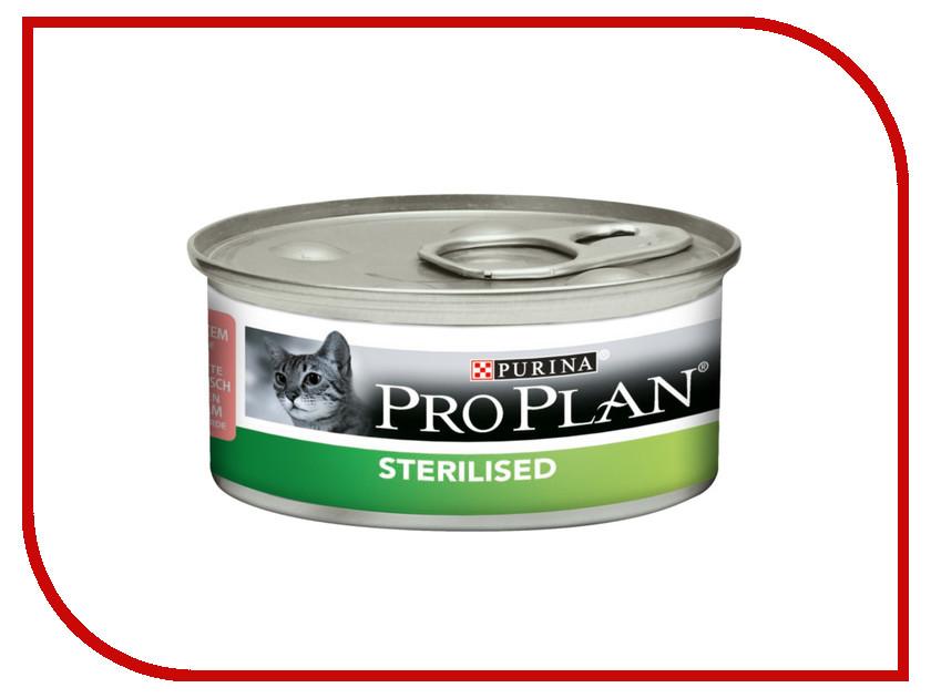 Корм Pro Plan Sterilised Лосось Тунец 85g для стерилизованных кошек и кастрированных котов 44306 корм pro plan sterilised optirinal индейка 400g для кастрированных котов и стерилизованных кошек 45939