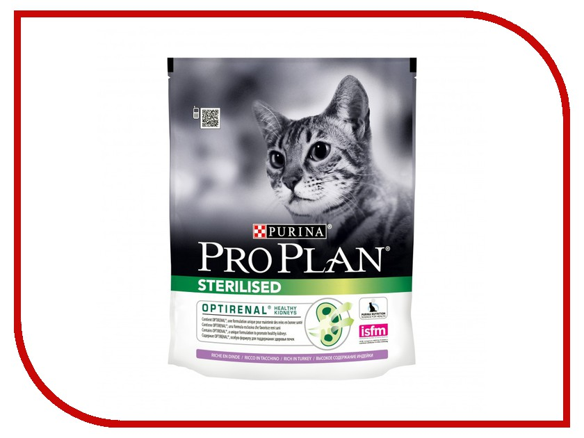 Корм Pro Plan Sterilised Optirinal Индейка 400g для кастрированных котов и стерилизованных кошек 45939 памперсы для котов купить