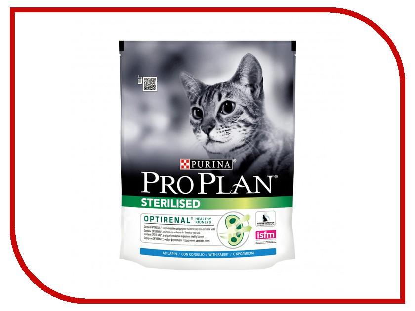 Корм Pro Plan Sterilised Optirinal Кролик 400g для кастрированных котов и стерилизованных кошек 45640 памперсы для котов купить
