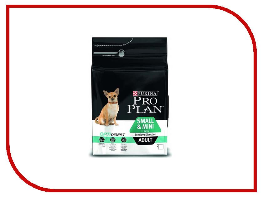 Корм Pro Plan Adult Small & Mini Sensetiv Digestion Optidigest Ягненок 700g для собак мелких и карликовых пород 1 - 10kg с чуствительным пищеварением 67614 корм сухой pro plan optihealth для собак мелких и карликовых пород с курицей и рисом 7 кг