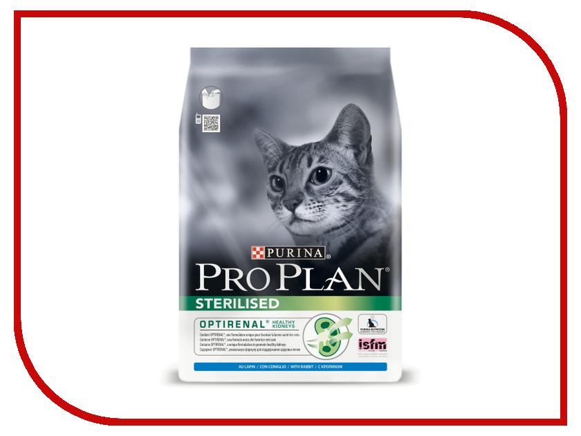 Корм Pro Plan Sterilised Optirenal Кролик 1.5kg для кастрированных котов и стерилизованных кошек 45275 корм pro plan sterilised optirinal индейка 400g для кастрированных котов и стерилизованных кошек 45939