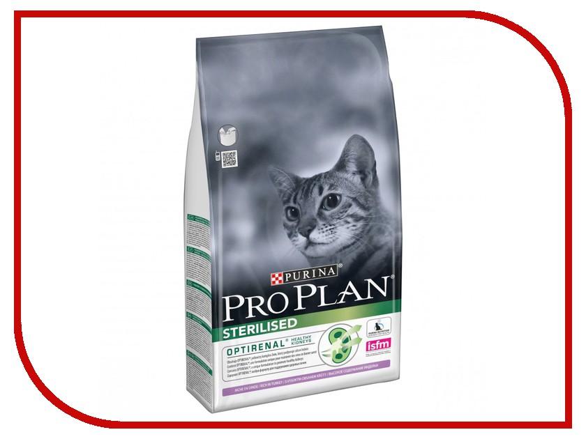 Корм Pro Plan Sterilised Optirenal Индейка 1.5kg для кастрированных котов и стерилизованных кошек 61993 памперсы для котов купить