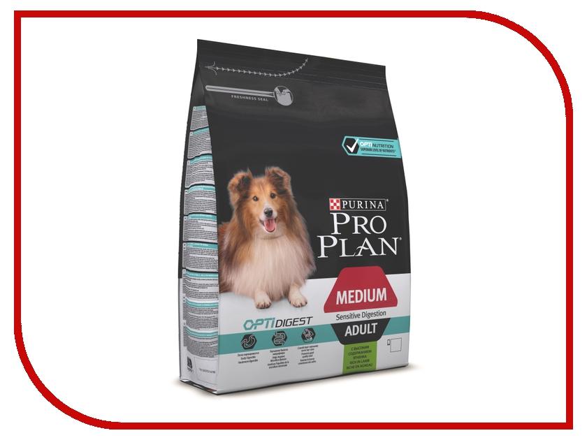 Корм Pro Plan Adult Medium Sensetiv Digestion Optidigest Ягненок 1.5kg для собак средних пород 10 - 25kg с чувствительным пищеварением 66737 корм для собак pro plan digt dog для средних пород ягненок сух 14кг