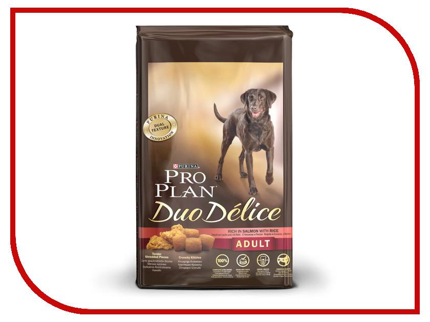 Корм Pro Plan Duo Delice Adult Лосось с Рисом 2.5kg для собак 53734 корм для собак pro plan athletic для крупных пород курица сух 14кг