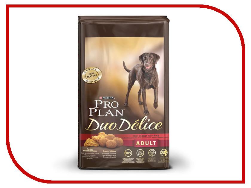 Корм Pro Plan Duo Delice Adult Говядина с Рисом 2.5kg для собак 53735 корм сухой pro plan adult sensitive для собак с чувствительным пищеварением и кожей с лососем и рисом 14 кг