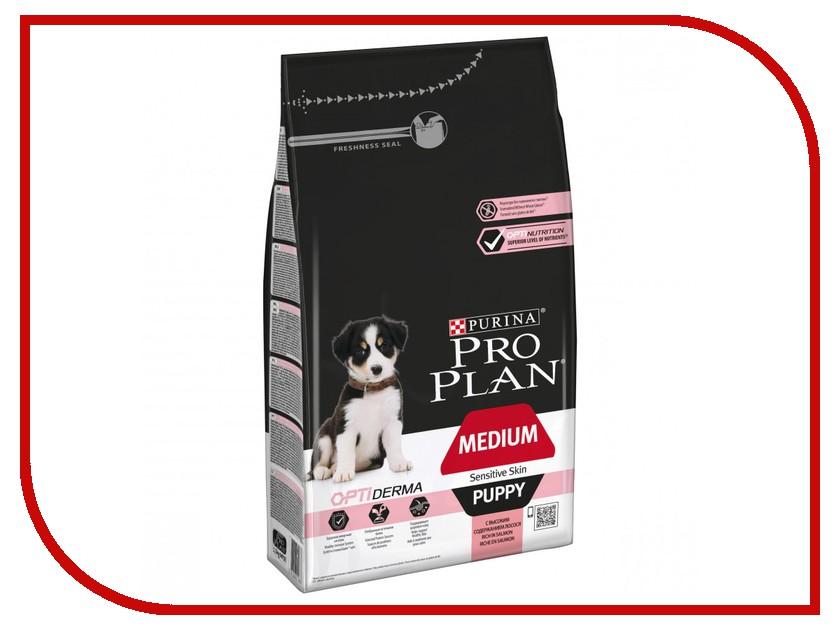 Корм Pro Plan Puppy Medium Sensitive Skin Optiderma Лосось 1.5kg для щенков средних пород 10 - 25kg с чуствительной кожей 63949 pro plan puppy sensitive купить