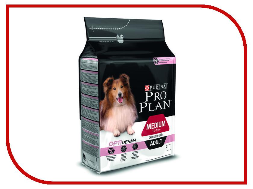 Корм Pro Plan Adult Medium Sensitive Skin Optiderma Лосось 1.5kg для собак средних пород 10 - 25kg с чуствительной кожей 60018 корм сухой pro plan adult sensitive для собак с чувствительным пищеварением и кожей с лососем и рисом 14 кг