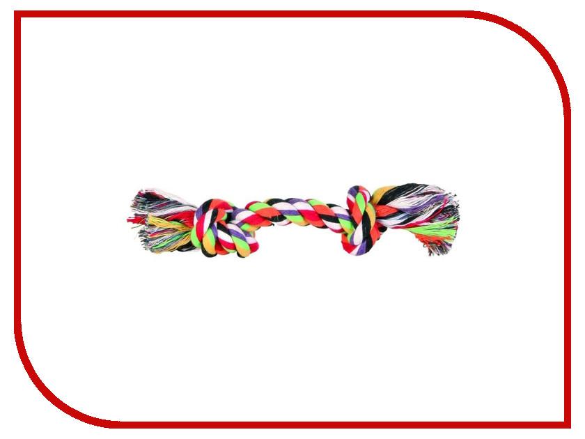 Игрушка Трикси Разноцветная верёвка с узлом 15cm 8775