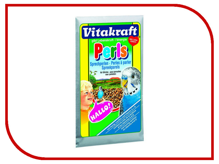 Vitakraft Perls 20g для волнистых попугаев развитие речи 60438 корм vitakraft menu junior для волнистых попугаев птенцов 500 гр