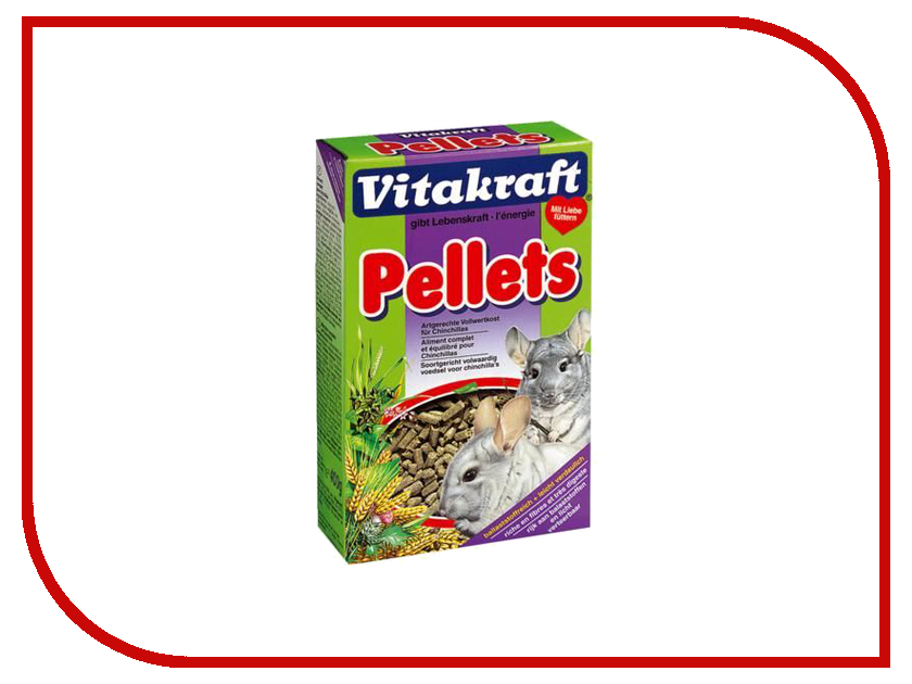 Vitakraft Pellets 400g для шиншил 28910 корм для птиц vitakraft menu vital для волнистых попугаев основной 1кг