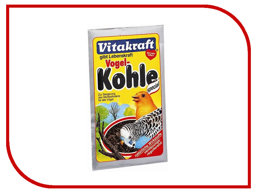 Vitakraft Kohle Vogel уголь двересный 10g для птиц 16253