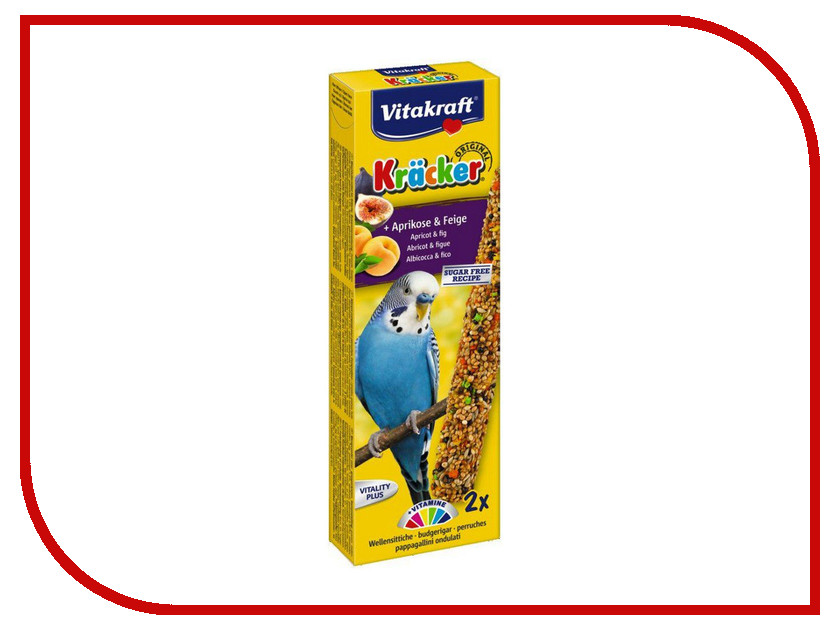 Vitakraft Крекеры Фруктовые для волнистых попугаев 3293 корм для птиц vitakraft подкормка для волнистых попугаев йодная 20 г