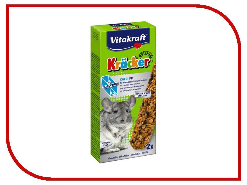 Vitakraft Крекеры с кальцием 2шт для шиншил 3357 корм для птиц vitakraft menu vital для волнистых попугаев основной 1кг