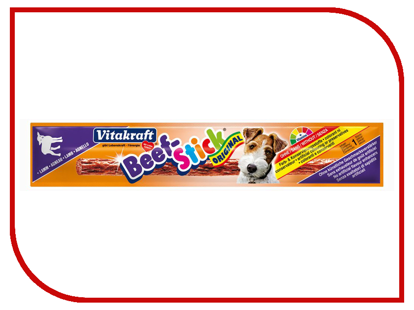 Лакомство Vitakraft Beef Stick Ягненок 12g для собак 34330 корм для птиц vitakraft menu vital для волнистых попугаев основной 1кг