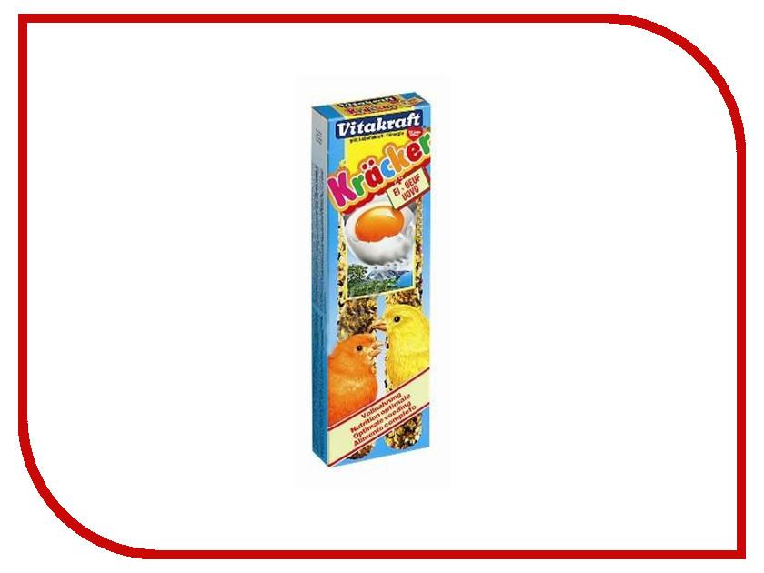 Vitakraft Крекеры Яичные 2шт для канареек 3306 корм для птиц vitakraft menu vital для волнистых попугаев основной 1кг