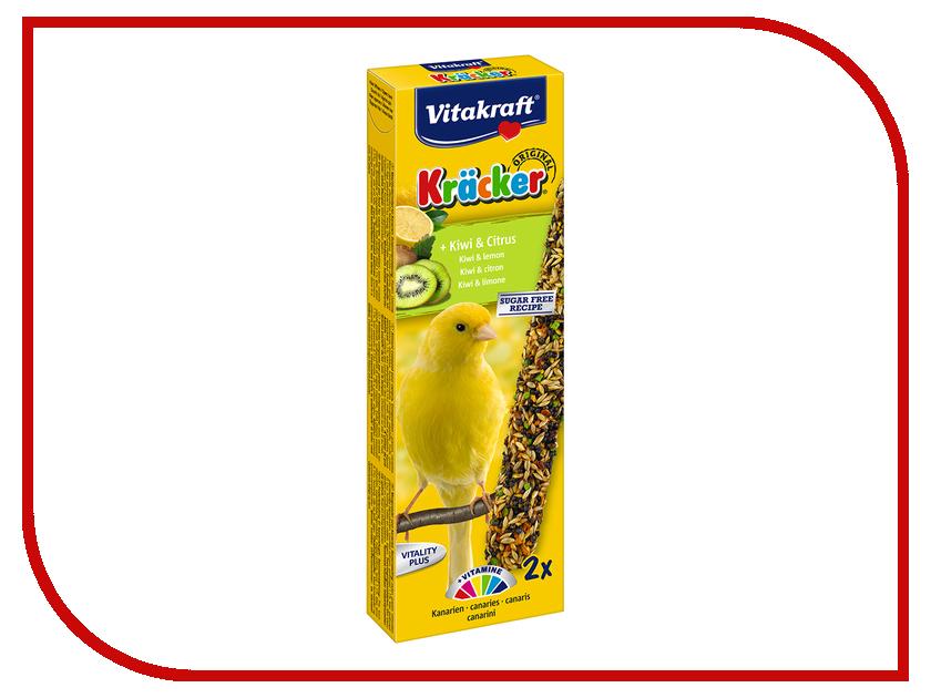 Vitakraft Крекеры Киви 2шт для канареек 3311 корм для птиц vitakraft menu vital для волнистых попугаев основной 1кг
