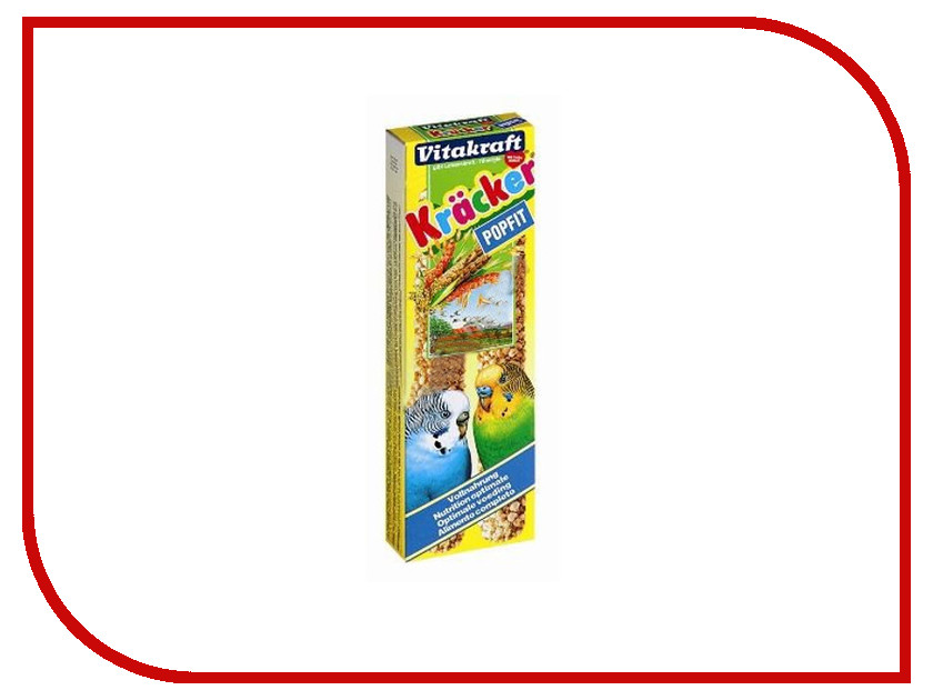 vitakraft крекеры яичные 2шт для экзотических птиц 14989 Vitakraft Крекеры Злаковые 2шт для волнистых попугаев 3289