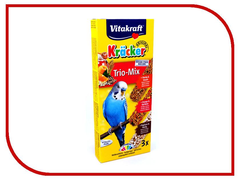 Vitakraft Крекеры Мед Кукуруза Апельсин 3шт для волнистых попугаев 3302 vitakraft корм для волнистых попугаев vitakraft menu vital 500 г