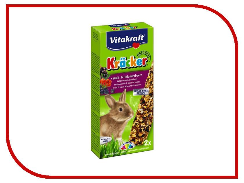 Vitakraft Крекеры Лесные Ягоды 2шт для кроликов 3370 корм для птиц vitakraft menu vital для волнистых попугаев основной 1кг