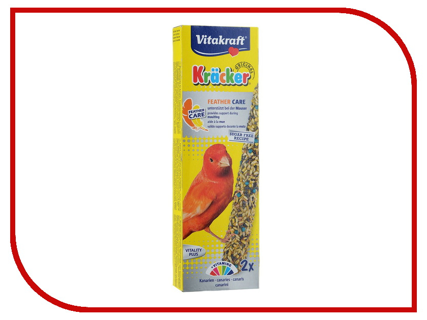 Vitakraft Крекеры 2шт для средних и крупных попугаев при линьке 14062 корм vitakraft menu для крупных попугаев основной 1 кг