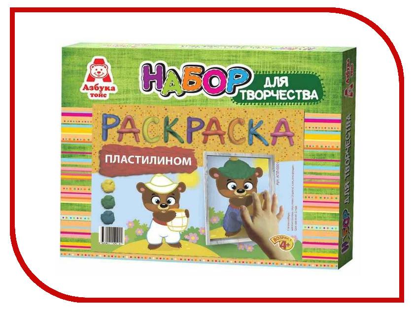 Набор для лепки Азбука тойс Аппликация пластилином Мишка АПЛ-0001 наборы для поделок азбука тойс аппликация пластилином мишка