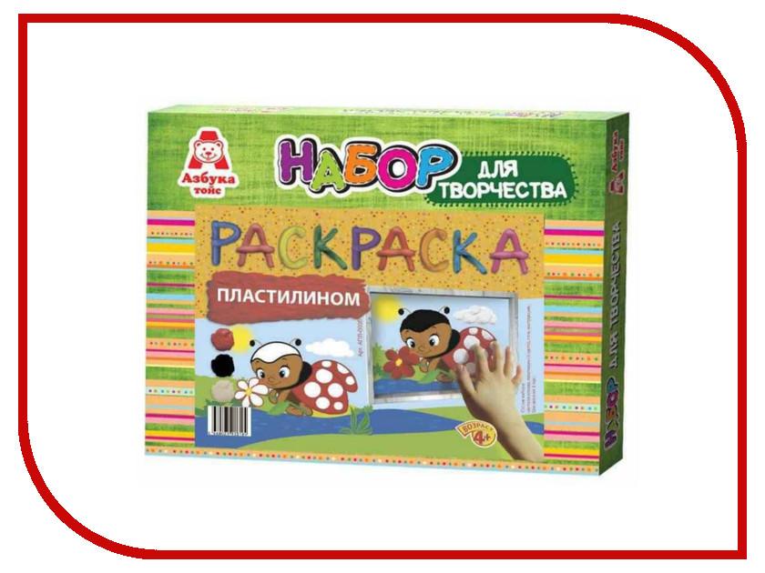 Набор для лепки Азбука тойс Аппликация пластилином Божья коровка АПЛ-0005 наборы для поделок азбука тойс аппликация пластилином бабочка