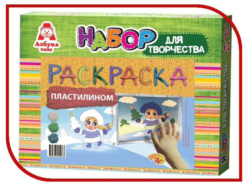 Набор для лепки Азбука тойс Аппликация пластилином Снегурка АПЛ-0010