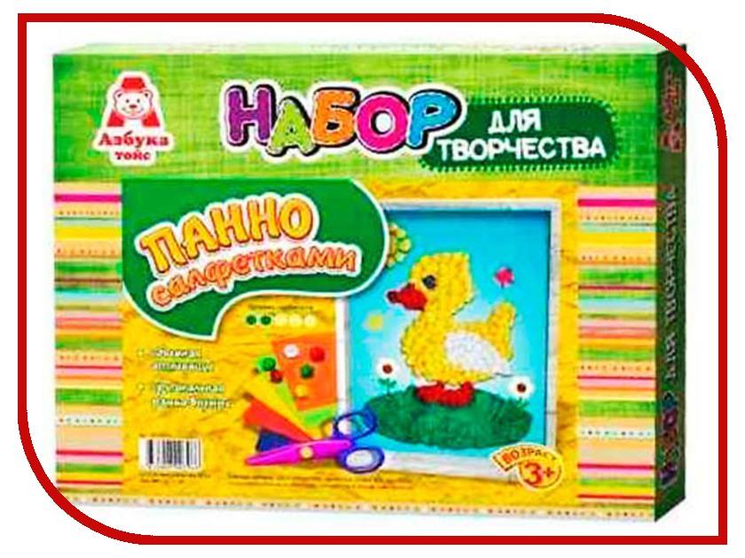 Набор Азбука тойс Аппликация салфетками Уточка АС-0003 набор азбука тойс аппликация салфетками дерево ас 0005