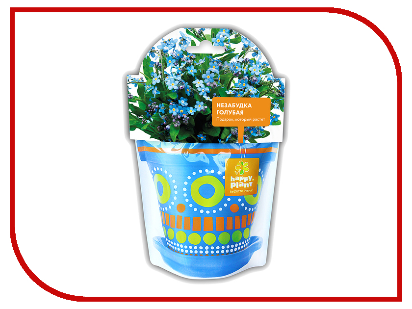 Растение Happy Plant Незабудка голубая hpd-4 брошь strombidae голубая