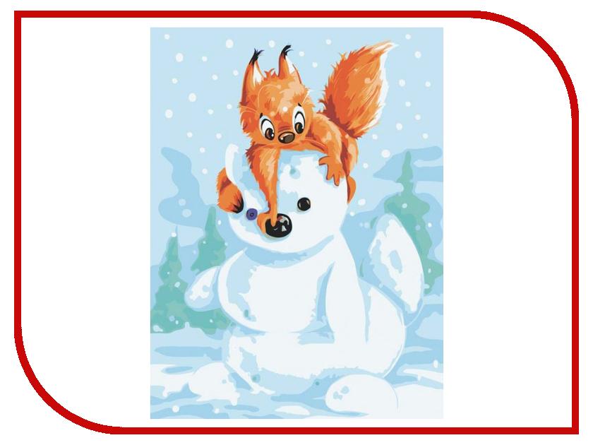 Раскраска по номерам Белоснежка Белка и снеговик 733-AS журнал юность 2 733 2017